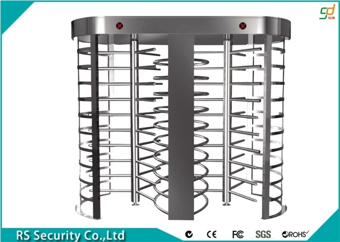 Two Passage Retractable Security Gates High Security Turnstile For Hotel