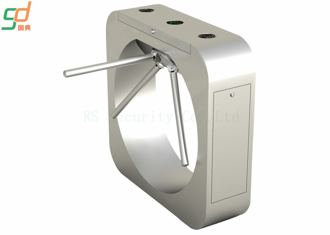 SS304 Rfid Card Tripod Turnstile Gate , Waist Height Pedestrian‎ Barriers