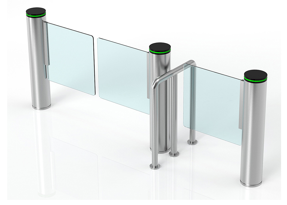 Super Width Lane Automatic Turnstiles,Supermarket Swing Barrier Gate Systems