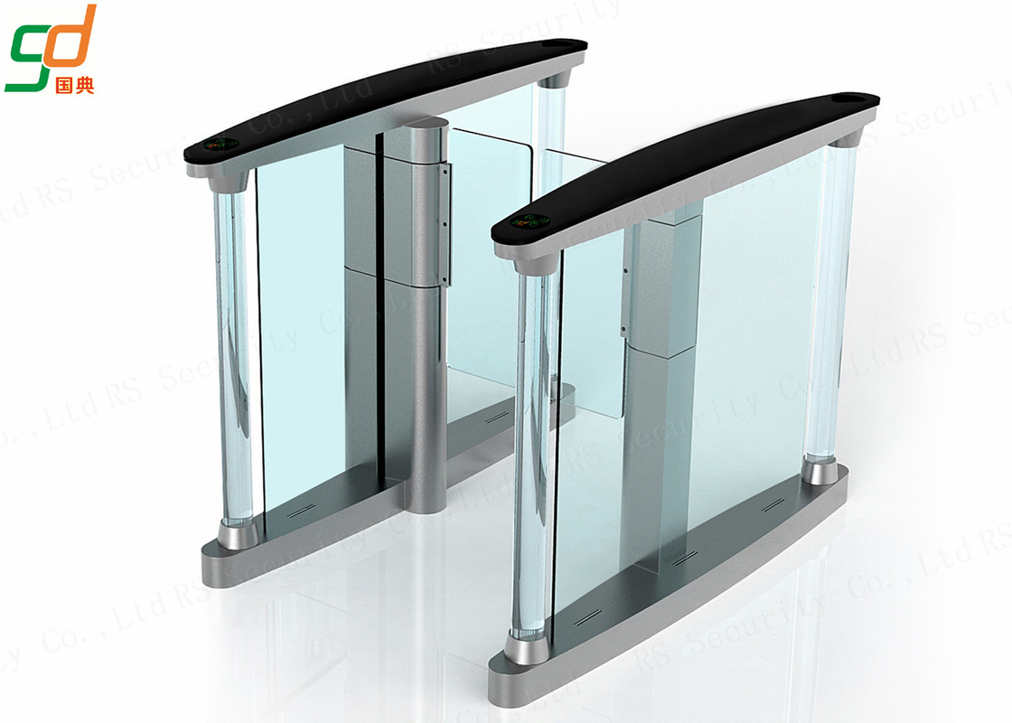 Access Control Supermarket Swing Gate , Slim Glass Arm Security Barriers 900mm Width