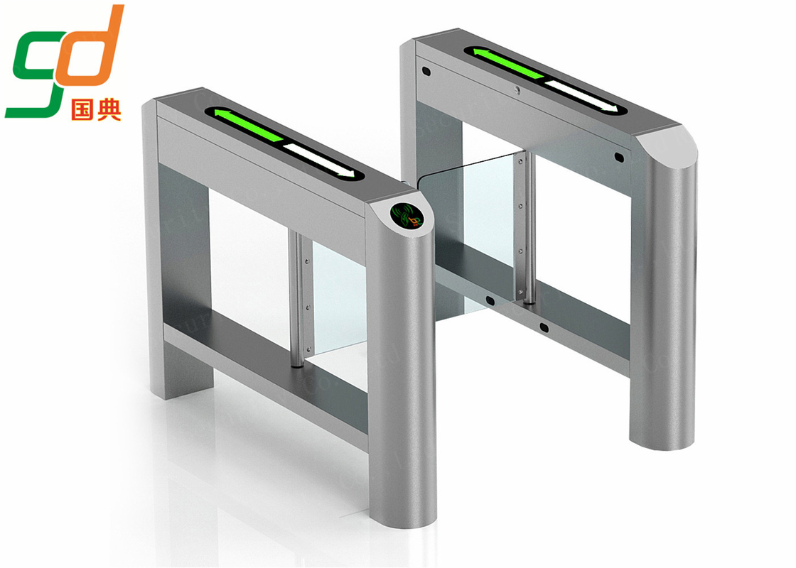 Servo Driver Swing Barrier Gate Stable Operation Glass Arm  Slim Turnstile Doors