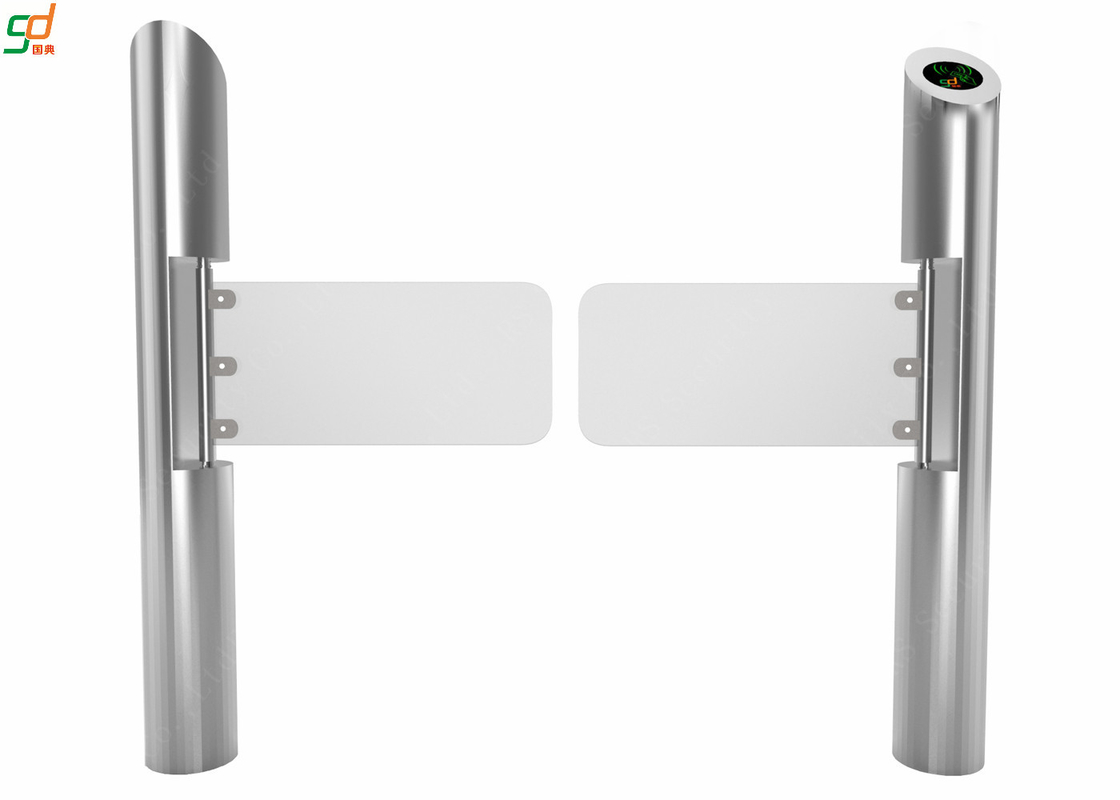 Brushless Cylindrical Swing Barrier Gate , RFID Access Control Turnstiles