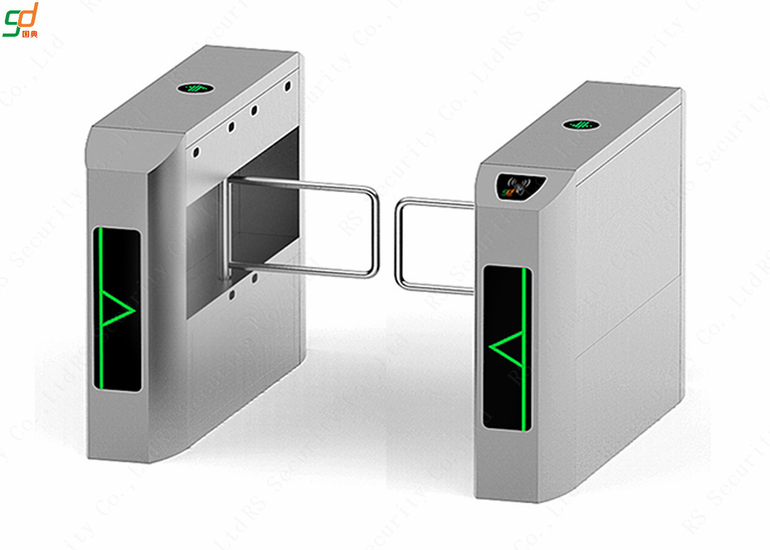 RFID Supermarket Swing Gate Disabled Access Barrier Wide Lane Turnstile
