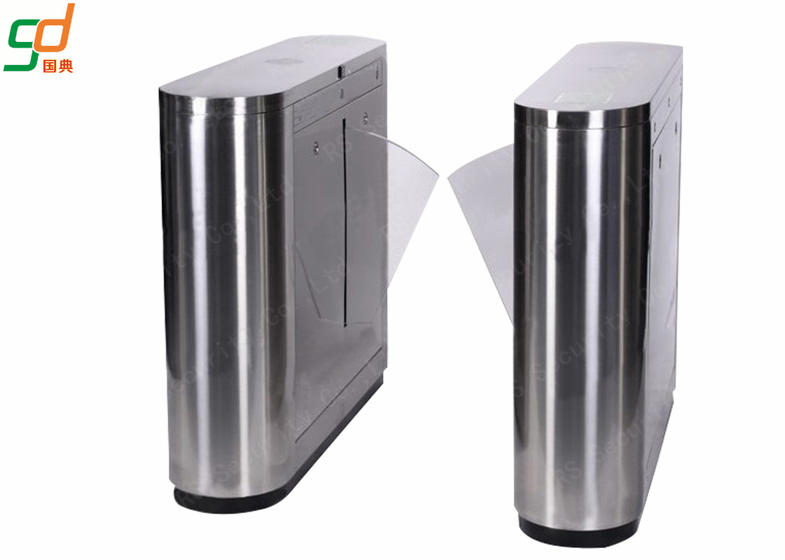 Rfid Indoor Optical Turnstile Flap Barrier Gate Two Directions Controlled