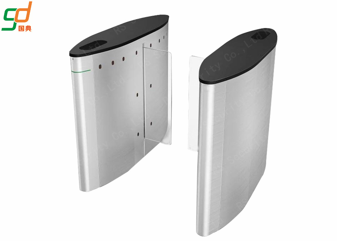Silver Automatic Intelligent Barrier Gate Turnstile Systems Saving Energy