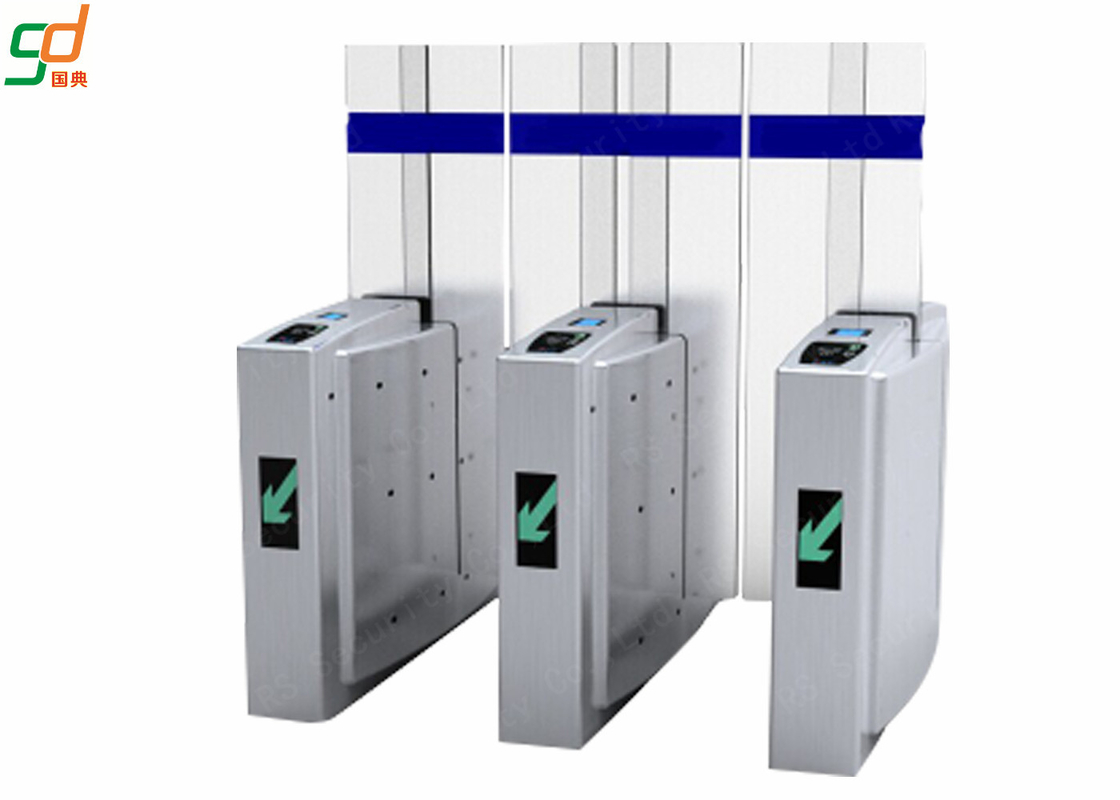 Card Access Speed Gates With Servo Driver / Half Height Turnstile Entrance Gates