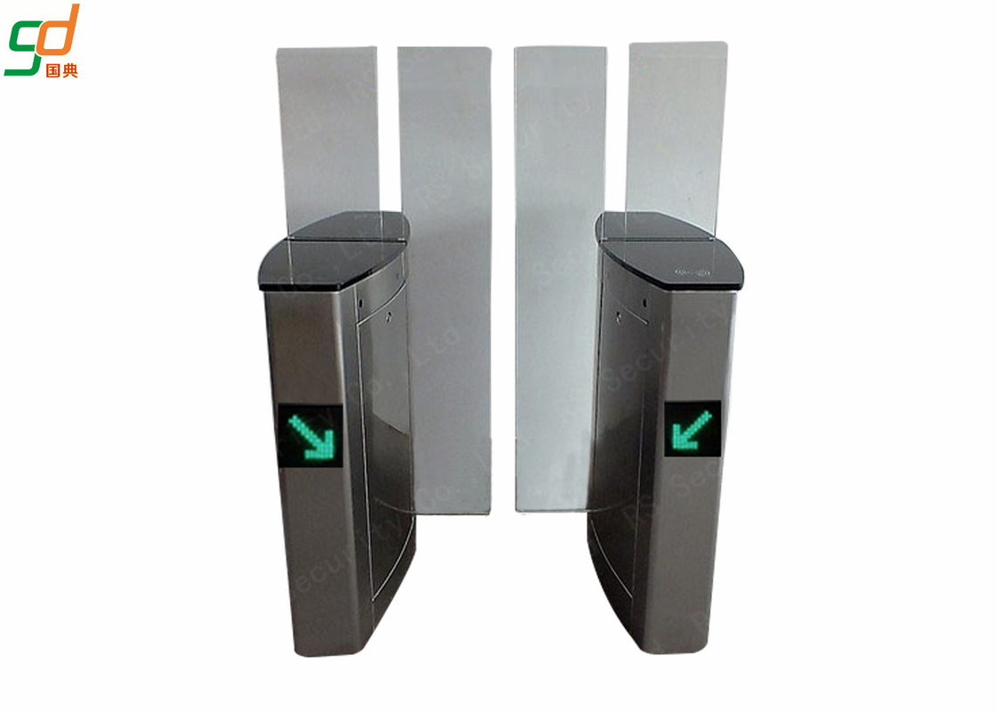 Stainless Steel Automatic Speed Gates / RS 1007 Sliding Barrier Turnstile Security Gates