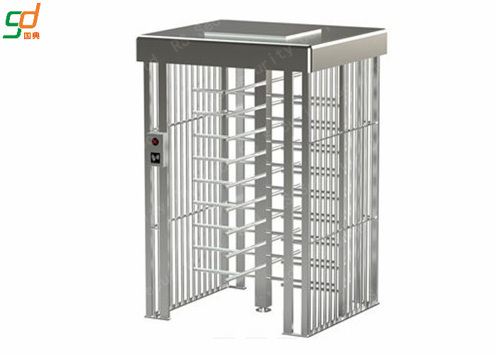 Heavy Duty Security Pedestrian Full Height Turnstiles Gate With Card Reader
