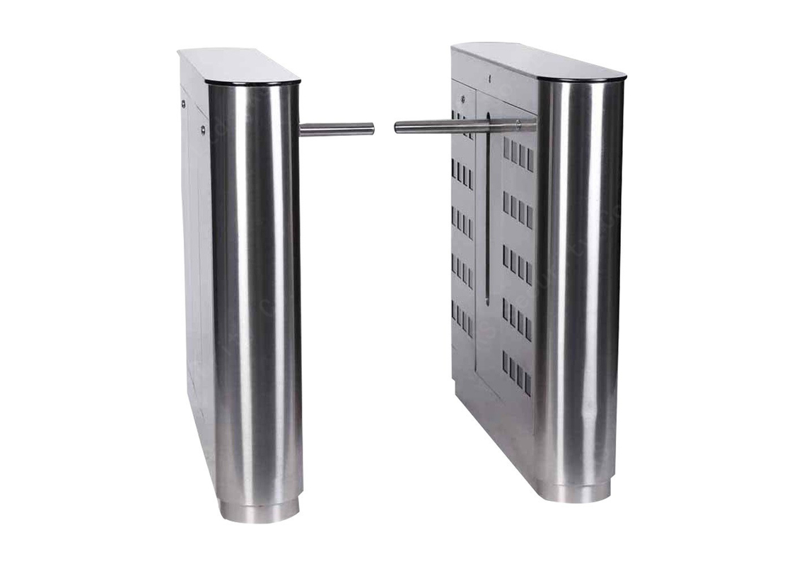 Single Or Dual Core Drop Arm Barrier Card Reader Turnstile Gate System