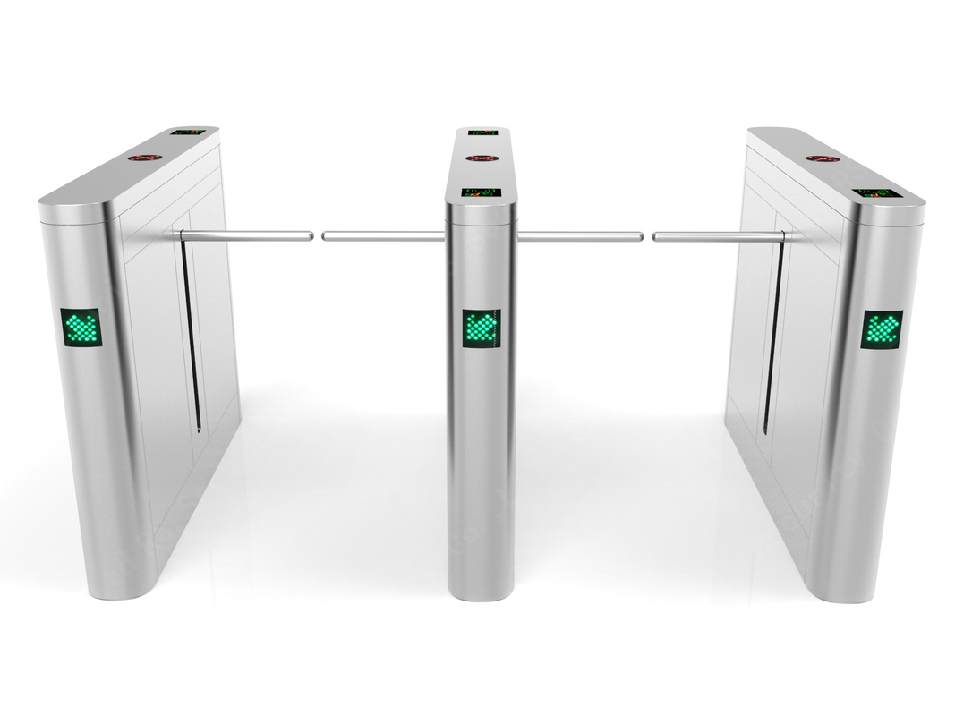 304 Stainless Steel Automatic Drop Arm Barrier Electric Rfid Pedestrian High Speed Turnstile