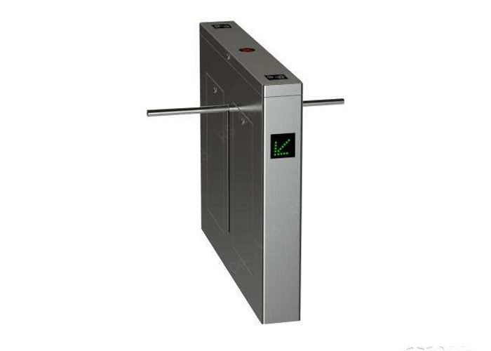 Power Remote Control Pedestrian Turnstile Gate , Tripod Access System 304 Stainless Steel