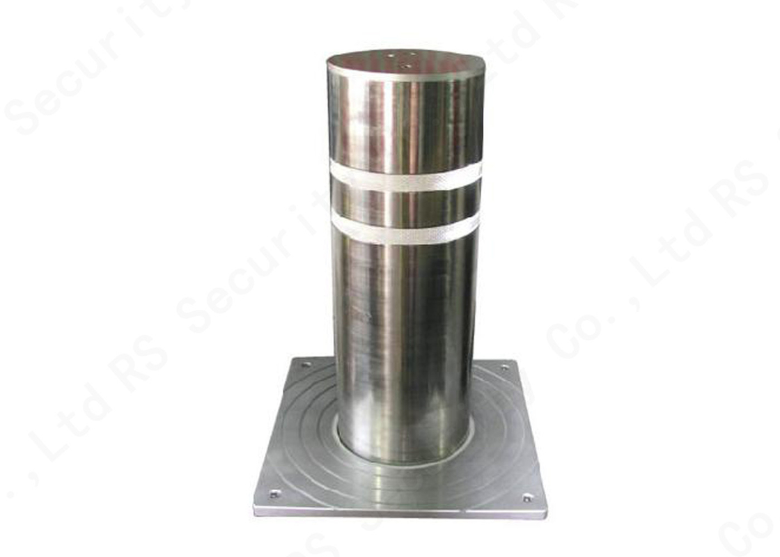 Pneumatic Rising Automatic Security Bollards Stainless Steel K8 Rated IP68