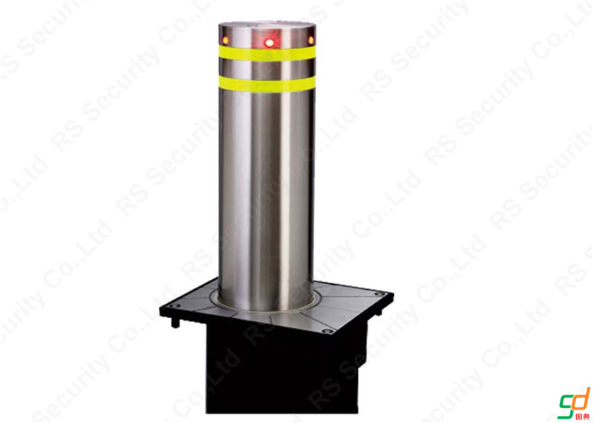 Removable Hydraulic Bollards Rising Barrier K8 Rated With RFID Led Director