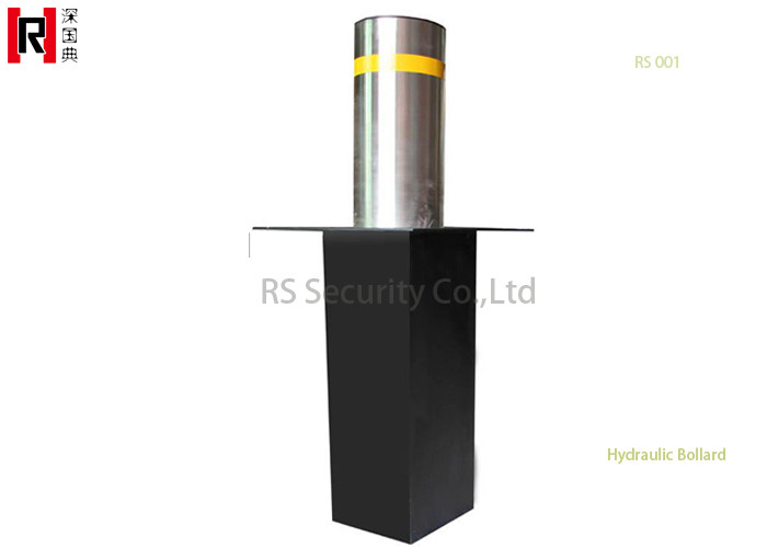 Black Auto Remote Road Traffic Hydraulic Bollards For Traffic Safety